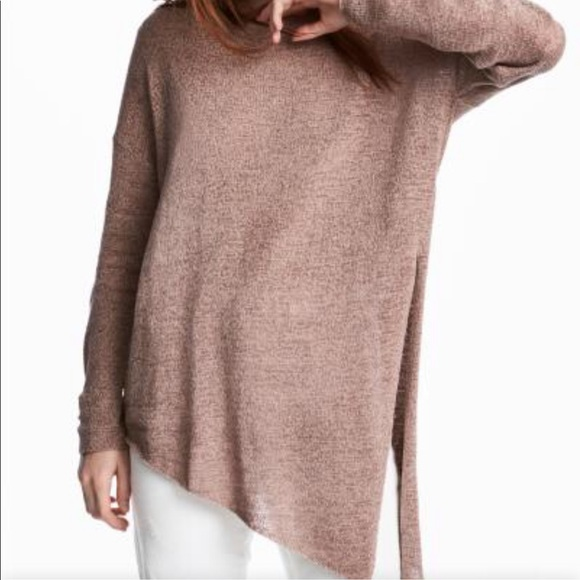 H&M Asymmetrical Loose Knit Sweater
